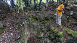 Die Reste eines antiken Bauwerks im Gebüsch. Vielleicht das Haus der Königstochter Äithra? (c) Tobias Schorr
