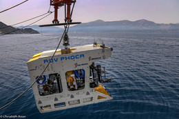 "The submarine robot (ROV) PHOCA of the marine research center ""GEOMAR Helmholtz"" (c) Christoph Beier FAU"
