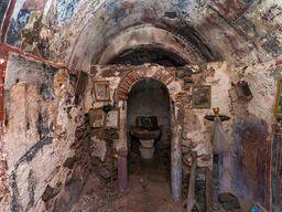 Blick in den Innenraum der Kapelle Agios Dimitrios. (C9 Tobias Schorr, November 2015