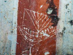 Uralte Graffiti eines Segelschiffes. (c) Tobias Schorr 2015