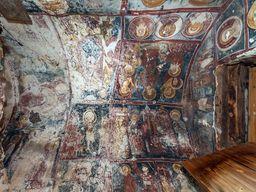 Blick auf die bemalte Decke der Kapelle Agios Dimitrios. (c) Tobias Schorr 2015