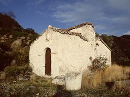 The chapel of Agios Joannis above Megalopotami. (c) Tobias Schorr