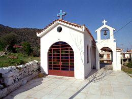 Die Kapelle Agia Paraskevi im Hauptort Methana. 1990. (c) Tobias Schorr