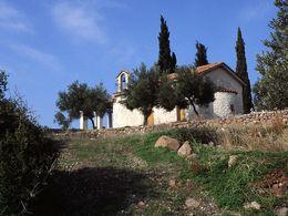 Die Friedhofskirche Agios Georgios auf der Throni-Hochebene. (c) Tobias Schorr 1990