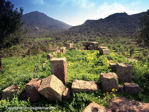 Frühchristliche Ruine auf der Akropolis Paliokastro bei Vathy. (c) Tobias Schorr