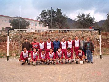 Die Fussballmannschaft von Methana