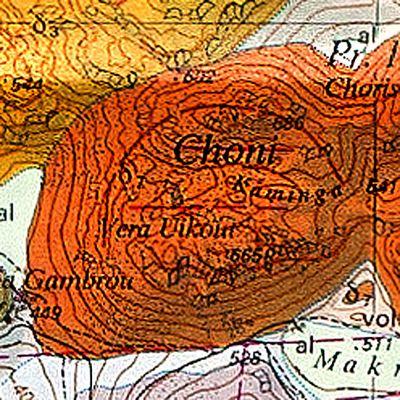 Geologische Karte des Vulkans Choni (c) ETH-Zürich