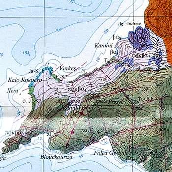 Die geologische Karte des Vulkans Agios Georgios (c) ETH-Zürich