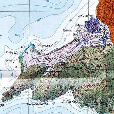 The geological map of the area of the Agios Andreas eruption center. (c) ETH-Zürich