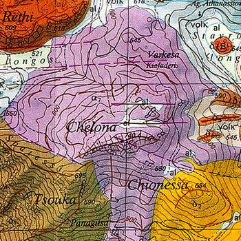 Ο γεωλογικός χάρτης τηε Χελώνας. (c) ETH-Zürich