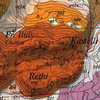 Geologische Karte des Profitis Ilias Vulkans (c) ETH-Zürich