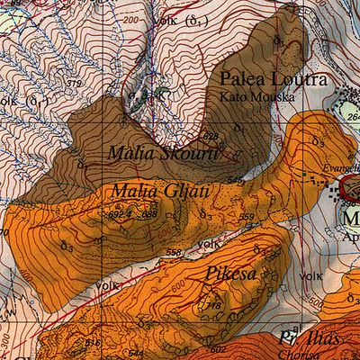 The geological map of the Swiss universitiy (c) ETH-Zürich