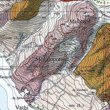 Ο γεωλογικός χάρτης του ηφαιστείου Μαλίζα δείχνει και το ρεύμα λάβας του. (c) ETH-Zürich