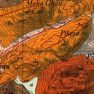 Ο γεωλογικός χάρτης του ηφαιστείου Πίκεσα. (c) ETH-Zürich