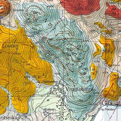 The geological map of Methana by the Swiss university (c) ETH-Zürich.