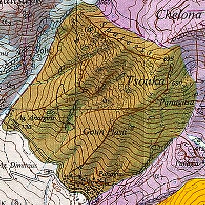 Geological map of Methana by the Swiss university (c) ETH-Zürich