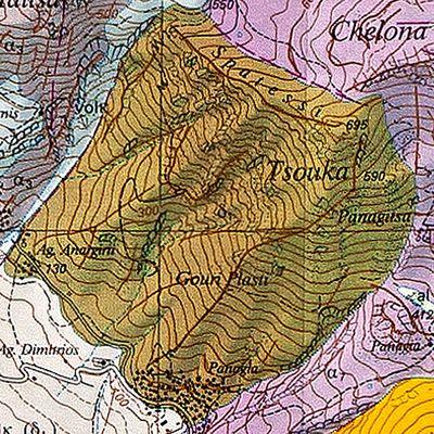 Geologische Karte des Vulkans Tsouka (c) ETH-Zürich