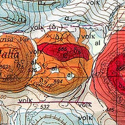 Ο γεωλογικός χάρτηε του ηφαιστείου θόλος λάβας Β. (c) ETH-Zürich