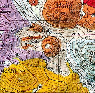Ο γεωλογικός χάρτης του θόλος λάβας Α. (c) ETH-Zürich