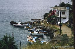 The fishing port of Vathy on my first visit on April 26, 1986. (c) Tobias Schorr