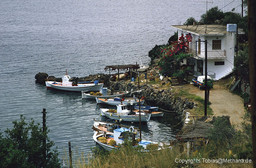Der Fischerhafen Vathy bei meinem ersten Besuch am 26.4.1986