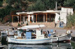 The tavern of Jimmy at Vathy fishing port. (c) Tobias Schorr 1996
