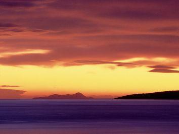 Sonnenaufgang über dem Saronischen Golf