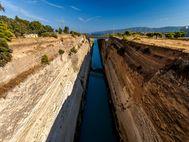 Die Methana-Reise begann am Isthmus von Korinth