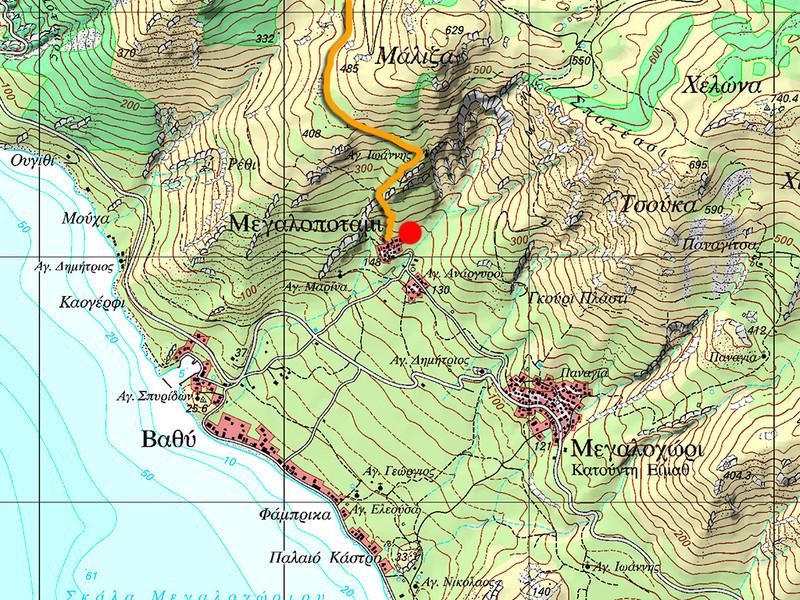 Location of the village Megalopotami. (c) Tobias Schorr