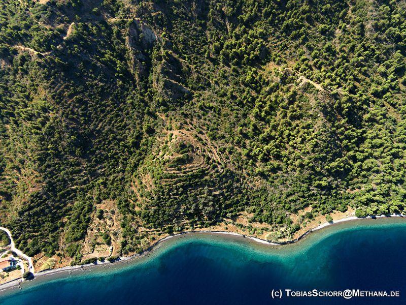 Aerial photograph of the Lofiskos crater structures. (c) Tobias Schorr
