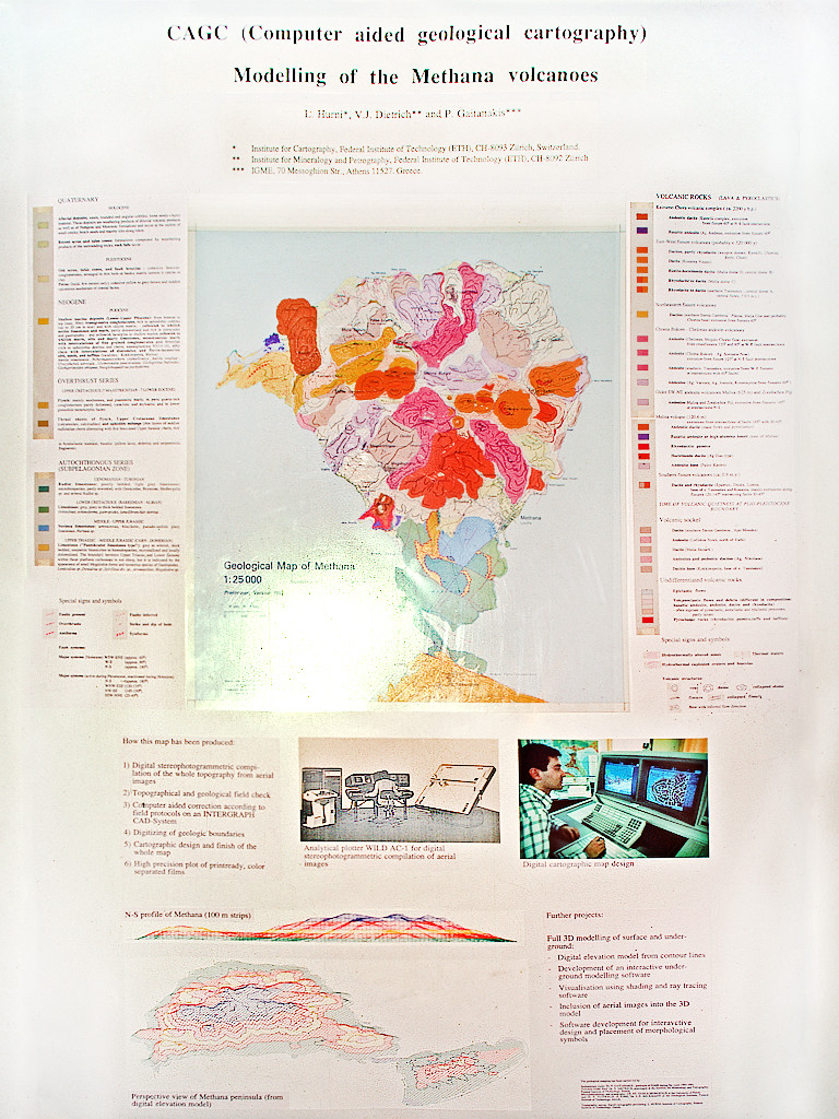 The first version of the geological map of Methana that was shown on the conference at the Evgenidis center 1994 in Athens. (c) Tobias Schorr
