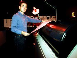 Ο Λόρεντς Χούρνι σε έναν μεγάλο σαρωτή. (c) Tobias Schorr 1992