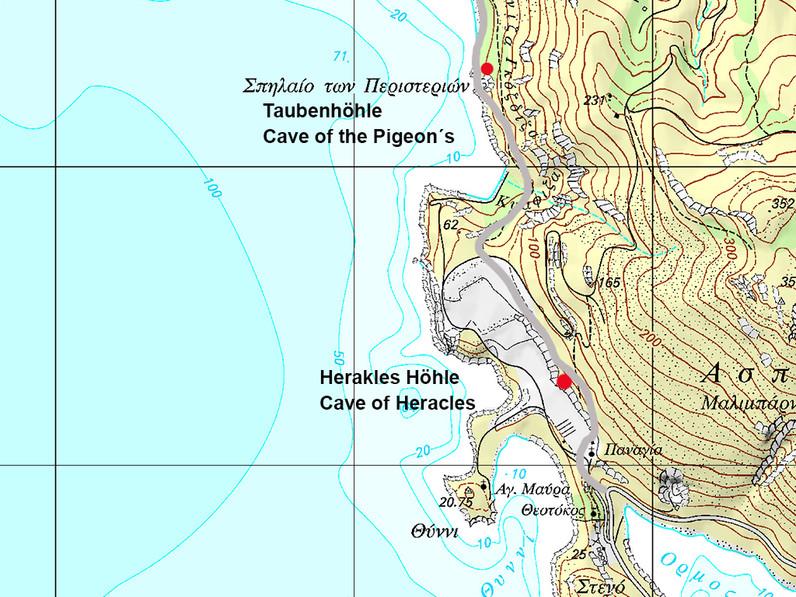 Lage der Höhlen. (c) ETH-Zürich