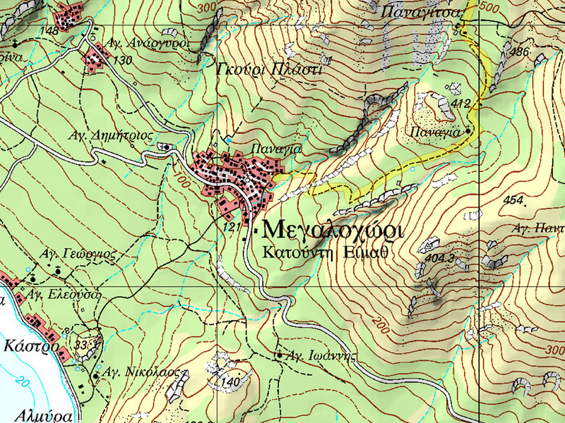 The map of Megalochori. (c) Lorenz Hurni