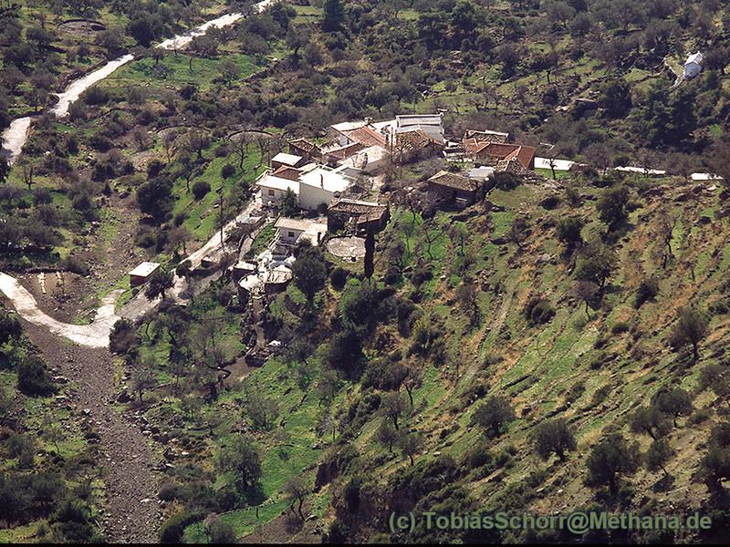 Bild aus den Bergen auf Megalopotami. Altes Fotos ca. 1991. (c) Tobias Schorr