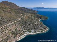 Blick auf Ost-Methana, wo die Heilbäder Agios Nikolaos liegen. (c) Tobias Schorr