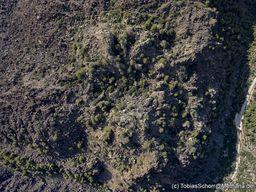 """Blick auf den """"Krater"""" des Lavadoms, bzw. der Quelle der Lavaströme. (c) Tobias Schorr"""