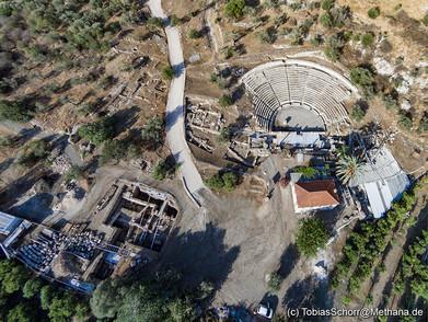 Die Ausgrabungen am kleinen, antiken Theater sind noch lange nicht beendet und werden sicher noch interessante Funde bringen... (c) Tobias Schorr