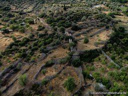 Blick auf die Akropolis Paliokastro bei Vathy. (c) Tobias Schorr