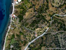 Luftbild der antiken Akropolis Paliokastro. (c) Tobias Schorr