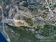 Das Dorf Pano Fanari und die antike Bergfestung von oben gesehen. (c) Tobias Schorr