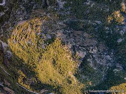 Luftbild des Lavadoms Profitis Ilias. (c) Tobias Schorr
