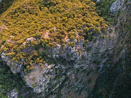Aerial photograph of the Profitis Ilias lava dome. June 2016. (c) Tobias Schorr