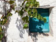 Fenster im Dorf Kounoupitsa