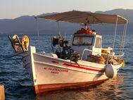 Das Kaiki Agios Panteleimonas in Vathy