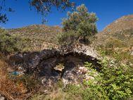 Reste eines römischen Bads in der Bucht Thiafi