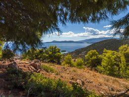 Blick von Agios Panteleimonas auf den Saronischen Golf