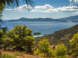 Methana, the Saronic gulf and the island of Kalavria (Poros)