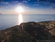 Blick auf den kleinen Tafelberg der Akropolis Oga. (c) Tobias Schorr