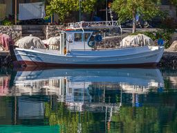 Fishing boats in the port of Vathy. 2016. (c) Tobias Schorr